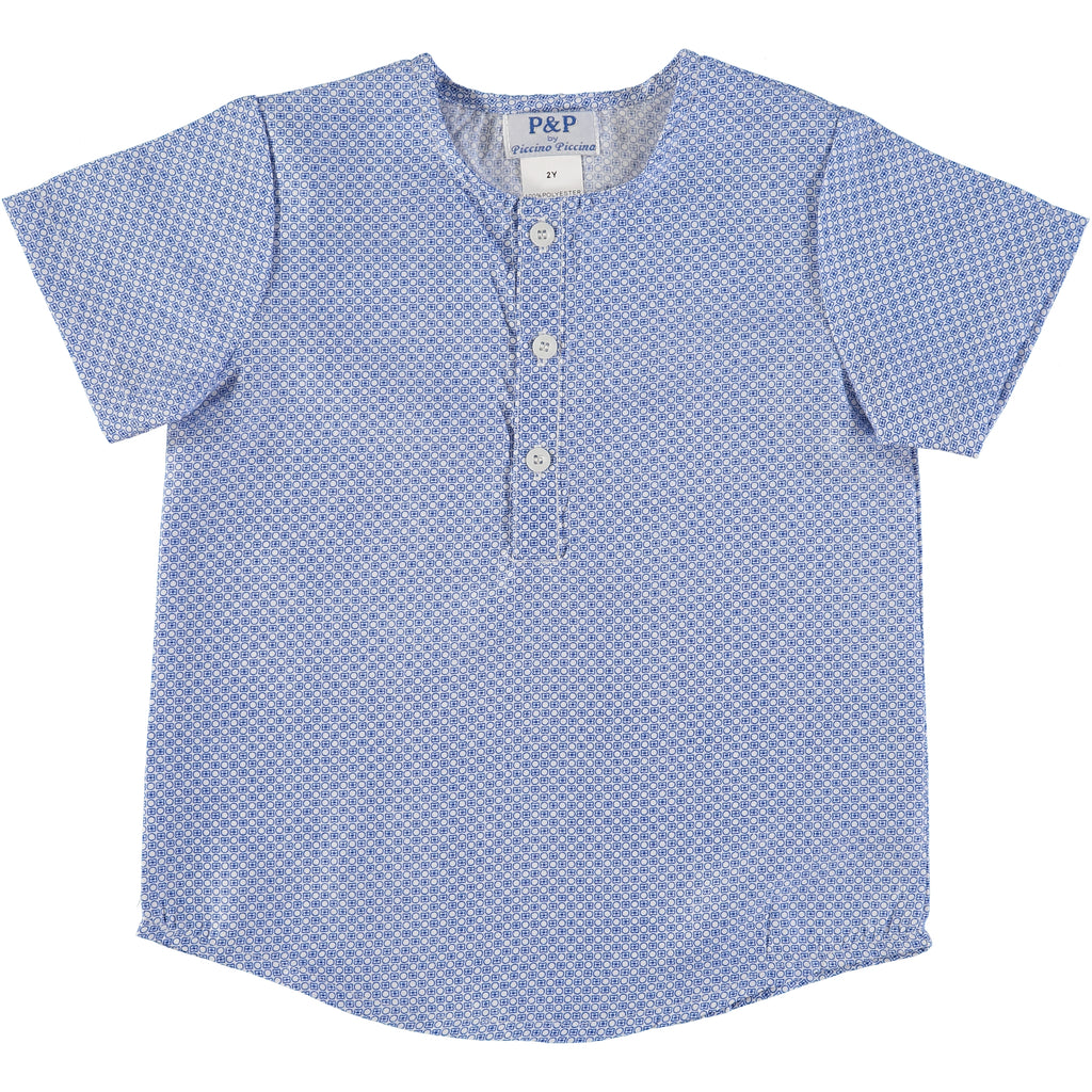 Royal Blue Circle Shirt - PiccinoPiccina