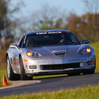 The Strano Parts Corvette on track. Borg Motorsports manufactures great products for the C6 and C6 Z06.
