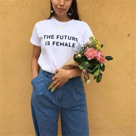 The Future is Female For A Cause - Black White or Gray