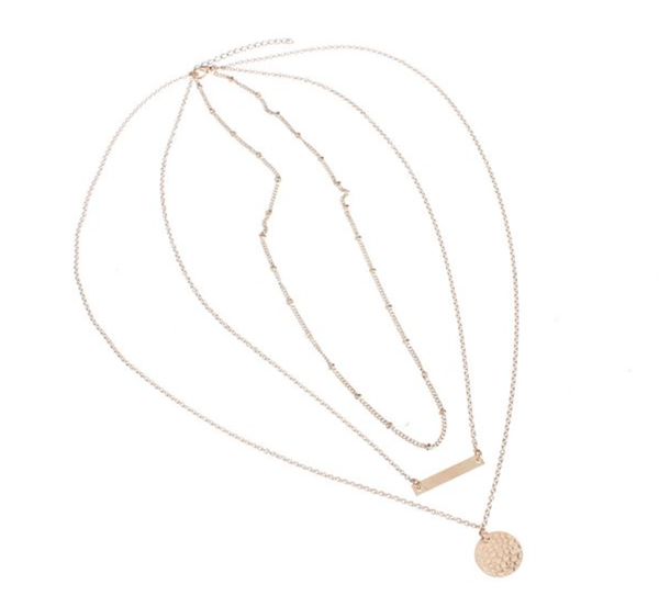 Necklace - 1 Piece - Stacked - Bar -
