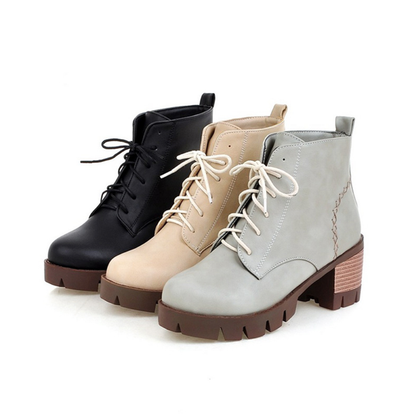 Wooden Rubber Premium Leather Boots