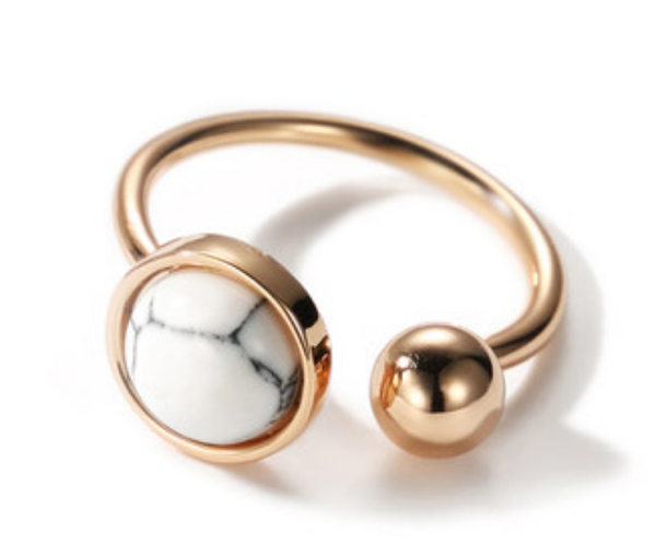 Adjustable Mariana Marble Ring