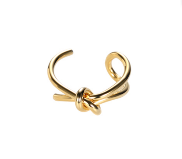 Adjustable Knotted Gold Ring