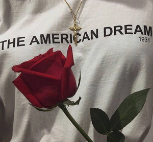 American Dream Graphic T Shirt - Black or White