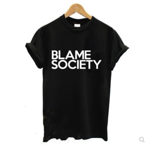 Blame Society Graphic T Shirt - Black