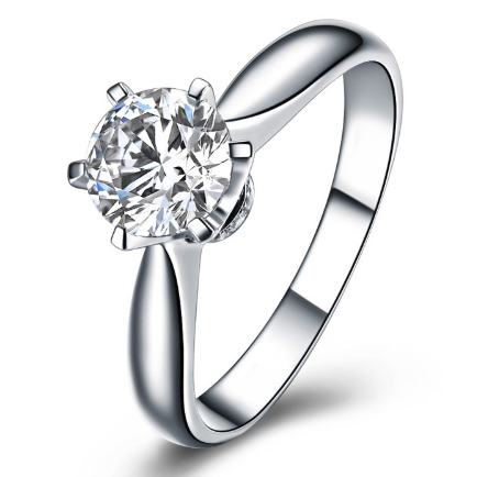 Xoxo 5th Avenue 925 Sterling Silver Six Claw 1 Carat Solitaire Ring