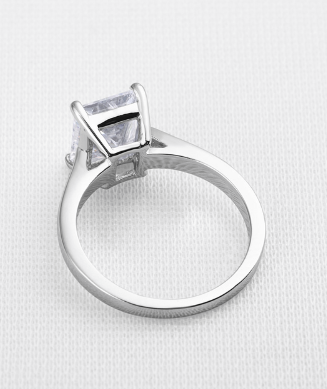 Xoxo 5th Avenue 925 Sterling Silver Square Cut 3 ct Solid Ring