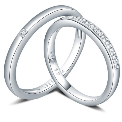 Xoxo 5th Avenue 925 Sterling Silver Eternity Wedding Rings