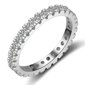 Xoxo 5th Avenue 925 Sterling Silver Fashion Eternity Ring