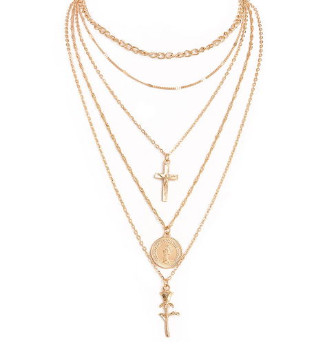 Xoxo 5th Avenue Charm Gold Color Chokers Necklace
