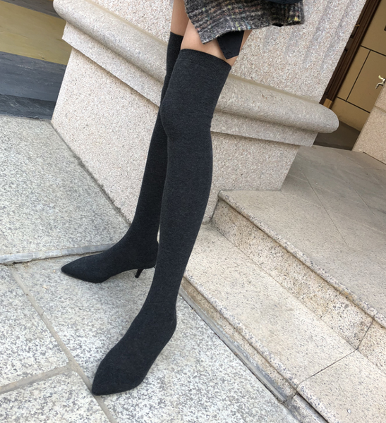 Xoxo 5th Avenue High-Heeled Over The Knee Stretch Boots