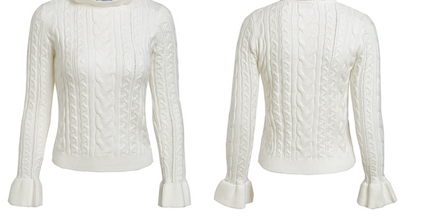 Xoxo 5th Avenue Turtleneck Flare Sleeve Sweater