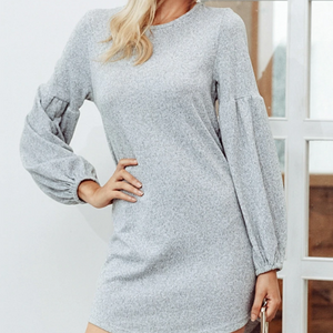 Xoxo 5th Avenue Casual Lantern Sleeve Sweater
