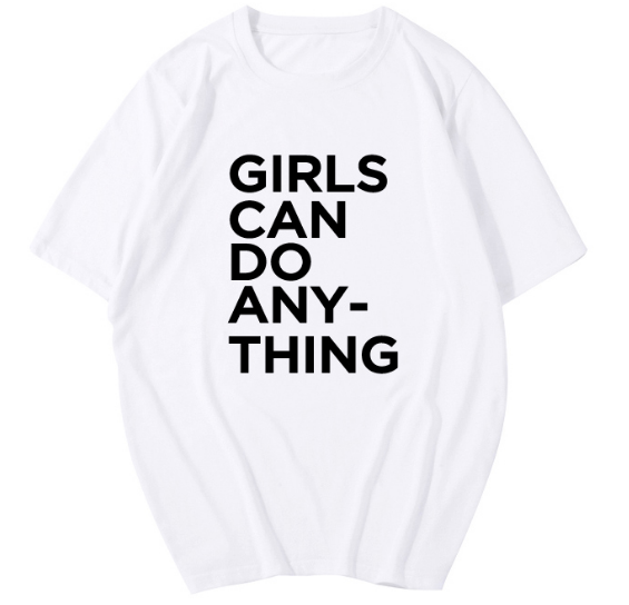 Xoxo 5th Avenue '' Girls can do anything '' Printed Tee Shirt