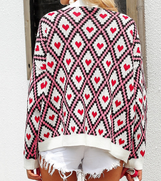 Xoxo 5th Avenue Christmas Printed Knit Sweater