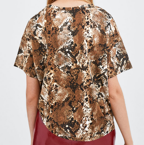 Xoxo 5th Avenue Ladies Casual & Snake Printed Top