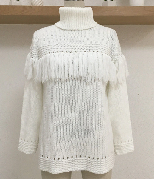 Xoxo 5th Avenue Fringed & Knitted Sweater