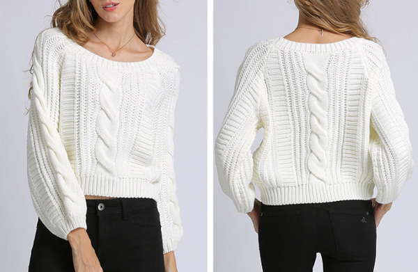 Xoxo 5th Avenue Cropped & Knitted Sweater