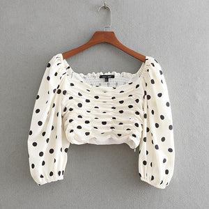 Jersey Blouses Heidi Dot Print Long-Sleeved