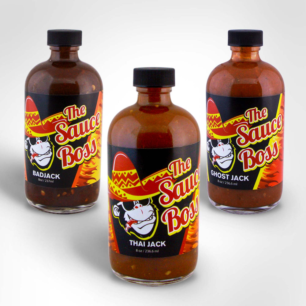 Mix & Match 3 Hot Sauce | Ghostjack-Thaijack-Badjack | thesauceboss.com
