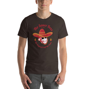 Load image into Gallery viewer, The Sauce Boss Original Craft Hot Sauce - Full Color - Short-Sleeve Unisex T-Shirt