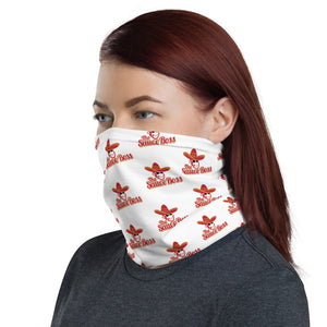 Load image into Gallery viewer, The Sauce Boss Unisex Neck Gaiter - White with Full Color Logo