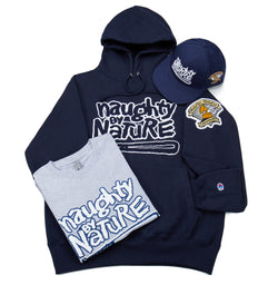 Naughty Hoodie Bundle - Navy and White Edition