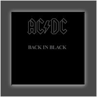 """Back in Black Cover"" Stretched Canvas Print (Various Sizes)"
