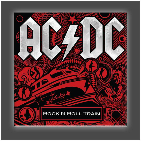 """Rock n Roll Train Cover"" Stretched Canvas Print (Various Sizes)"