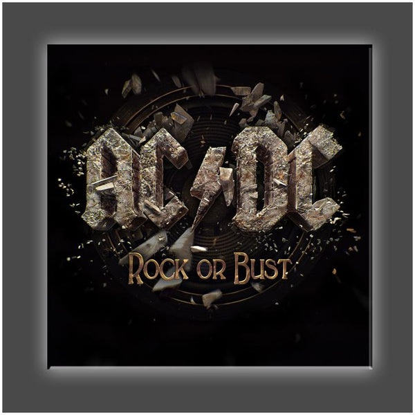 """Rock or Bust Cover"" Stretched Canvas Print (Various Sizes)"
