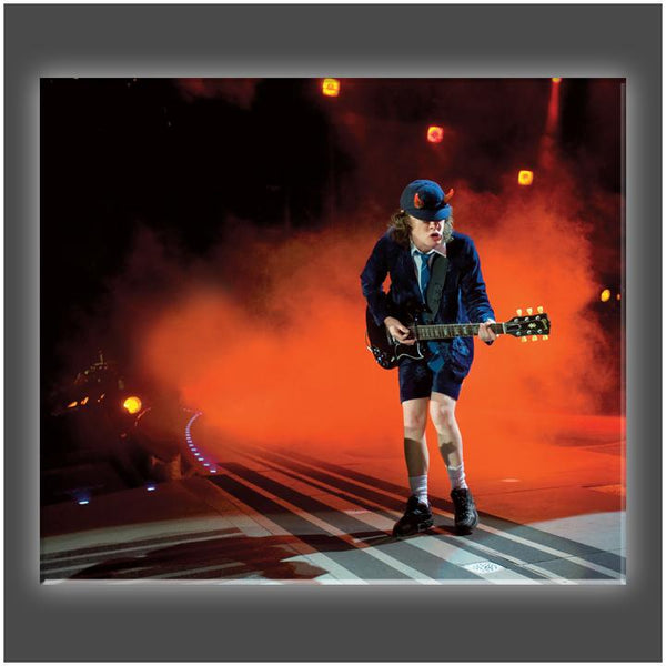"""Angus Young Rocks"" Stretched Canvas Print (Various Sizes)"
