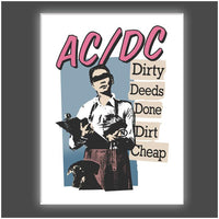 """Dirty Deeds"" Stretched Canvas Print (Various Sizes)"