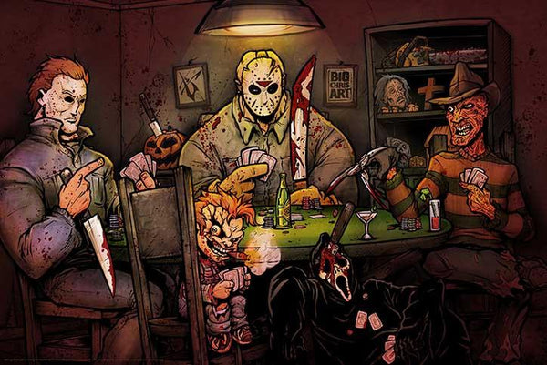 """Slasher's Playing Poker"" Poster BC101"
