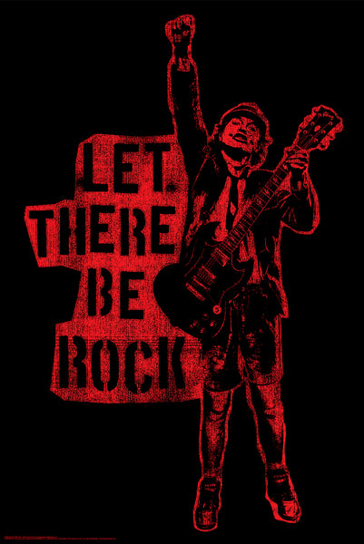 """AC/DC Let There Be Rock"" Poster BDP002"