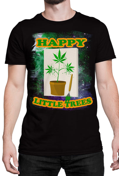 """Happy Little Trees"" T-Shirt DBA59"