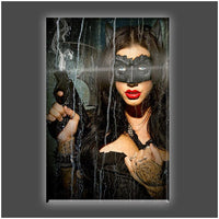 """Masked Madness"" Stretched Canvas Print (Various Sizes)"