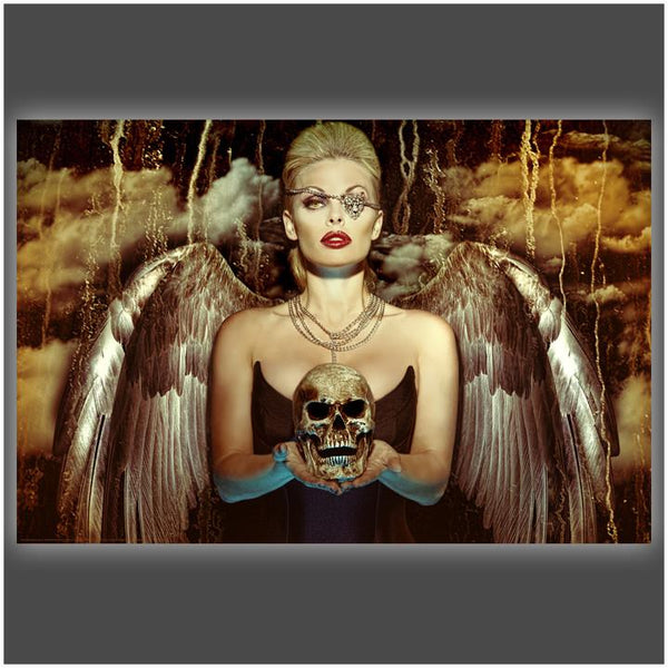 """Angel of Death"" Stretched Canvas Print (Various Sizes)"