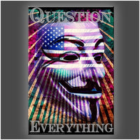 """Question Everything"" Stretched Canvas Print (Various Sizes)"