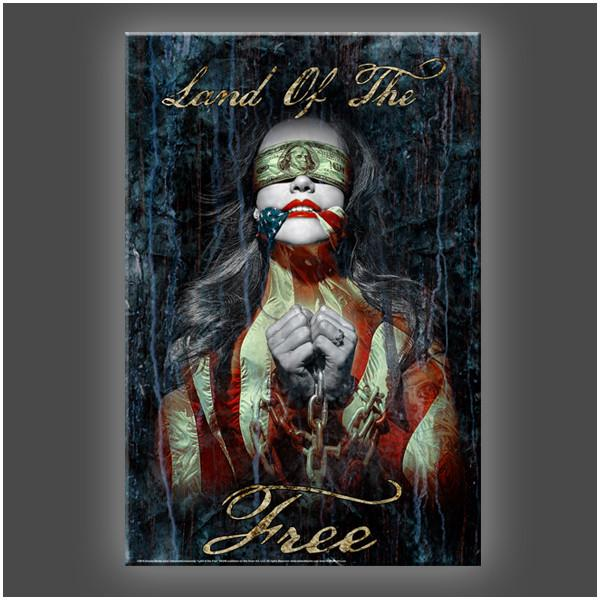 """Land Of The Free"" Stretched Canvas Print (Various Sizes)"