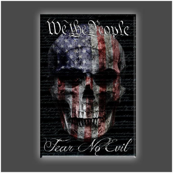 """We Fear No Evil"" Stretched Canvas Print (Various Sizes)"