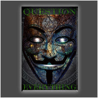 """Keep Questioning"" Stretched Canvas Print (Various Sizes)"