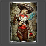 """El Mariachi Muerto Amore"" Stretched Canvas Print (Various Sizes)"