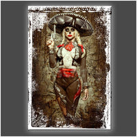 """El Mariachi de la Muerto"" Stretched Canvas Print (Various Sizes)"