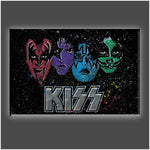 "KISS ""Face Off Multi-Color"" Stretched Canvas Print (Various Sizes)"