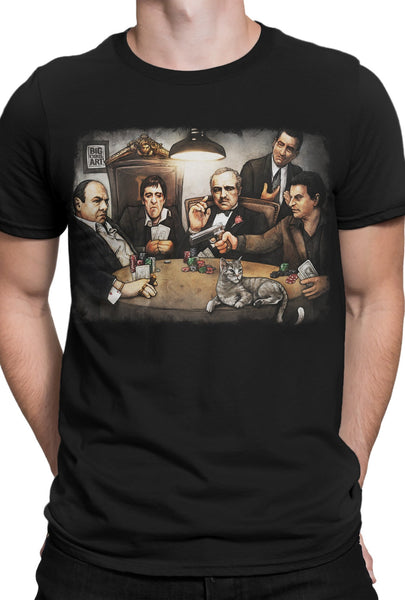 """Gangster's Playing Poker"" T-shirt BCA4"
