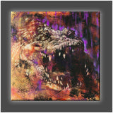 """Croc"" Stretched Canvas Print (Various Sizes)"