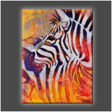 """Stripes All Over"" Stretched Canvas Print (Various Sizes)"