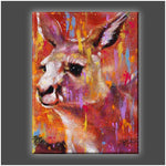 """Wallaby"" Stretched Canvas Print (Various Sizes)"