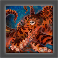 """Octopus"" Stretched Canvas Print (Various Sizes)"