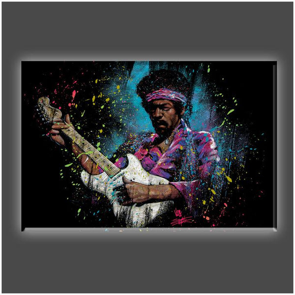 """Jimi Electric Glow"" Stretched Canvas Print (Various Sizes)"